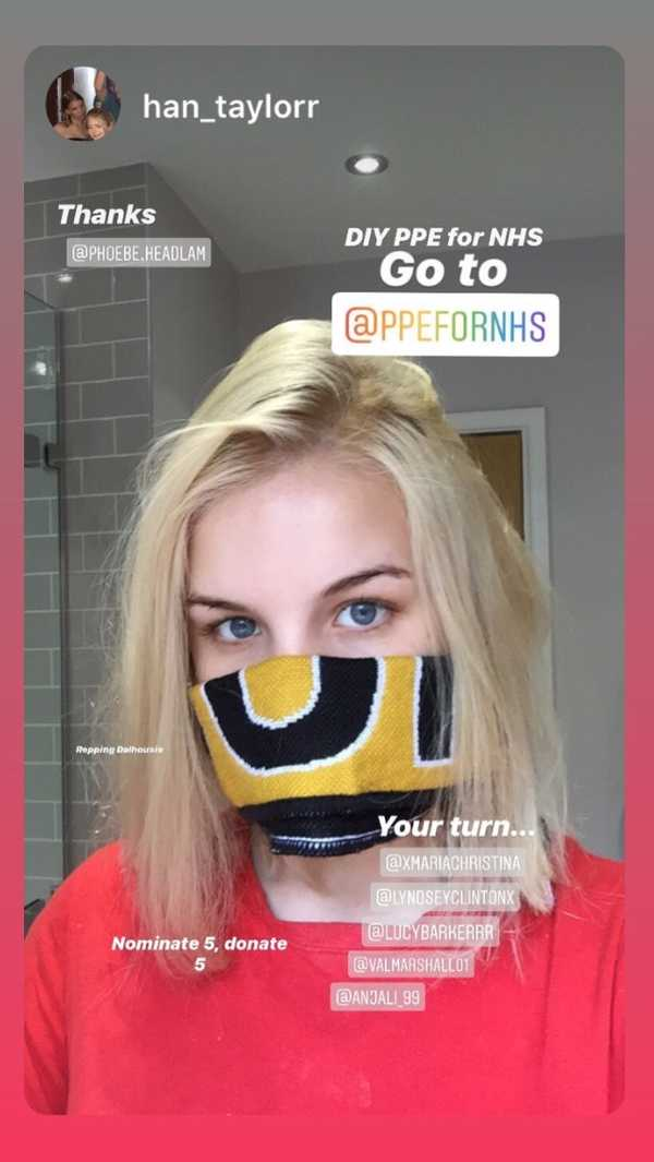 @han_taylorr with PPE via @PPEforNHS Instagram